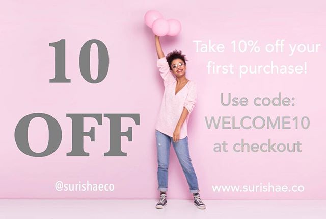 Been wanting to try our products out? Take 10% off your first purchase!  Use code: WELCOME10 at checkout. 💕