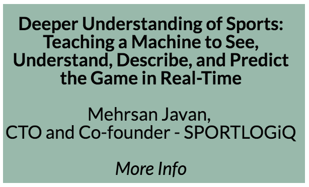 Deeper understanding of sports: Teaching a machine to see, understand, describe, and predict the game in real-time.   After describing the big picture of AI for sport analytics the speaker will focus on one real example of player performance evaluation with multi-agent reinforcement learning.