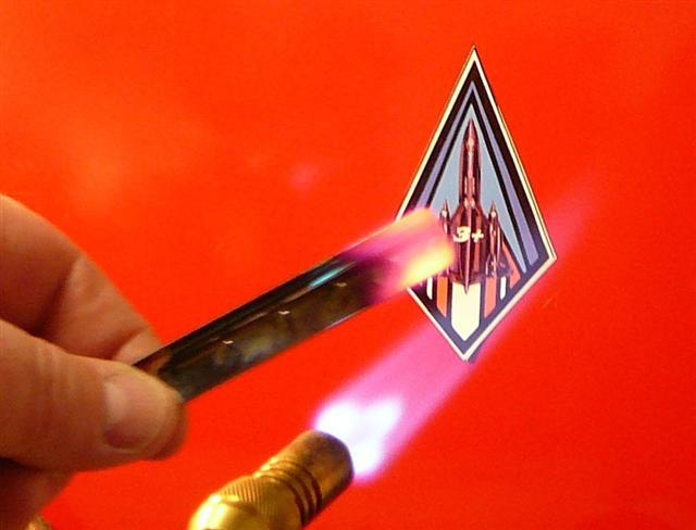 This photo shows me holding in my bare hand a small shard of Titanium from the SR-71, glowing RED HOT!  Try that with a piece of aluminum or stainless steel.