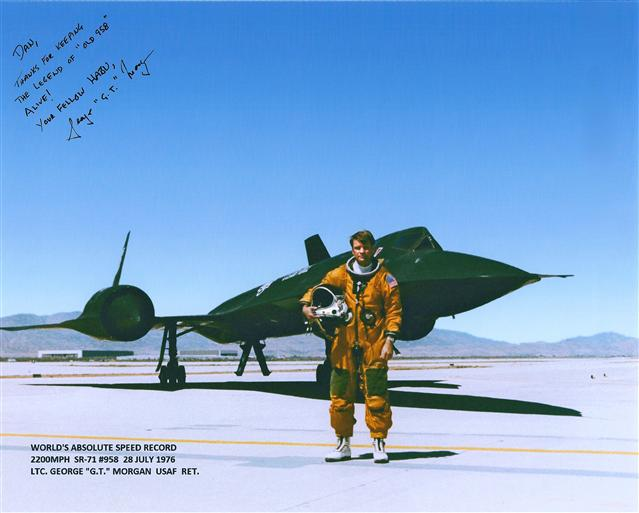 Col Morgan and Maj Gen Joersz still maintain the WORLD'S ABSOLUTE SPEED RECORD in SR-71A, #617958, set on 28 July 1976.  A 37 year long record, and still counting.