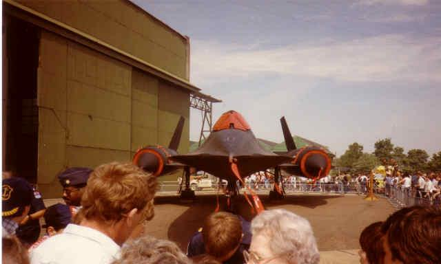 "The British people loved the SR-71 Blackbird and would stand for hours just to get an autograph from one of the aircrew members.  ""Air Fete 85"""