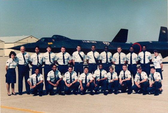 Dan, I had this picture when I went to PME course April 2nd to 12th 1990.  I was told that this was the last and only class to pose in front of SR-71 B model.  As you will see it was tail number 981. I was in the back row, 6th from the left.  Kurt Alwardt, 9th Metals Technology, SR-71, U-2/TR-1, KC-135Q, T-38.