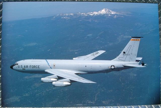"UNITED STATES AIR FORCE KC-135 STRATO-TANKER     Since the first Boeing KC-135A rolled out of the Renton, Washington assembly line on 18 July 1956, five different variants of Stratotankers have been the mainstay of the Air Force tanker fleet. Three generations of tanker crews sat alert, deployed to remote locations, and supported combat operations around the world.      General Curtis LeMay referred to tanker crews as Strategic Air Command's ""Unsung Heroes,"" and the men and women who call themselves ""Crewdogs"" are surely that. Moreover, the KC-135's extraordinary success has depended upon the skill and dedication of crew chiefs, maintenance and logistics personnel, and the hundreds of other professional specialties who help put KC-135s into the air.     Built to refuel SAC's bomber force on a nuclear strike, KC-135s are classified as a nuclear alert asset and have given fighters, reconnaissance aircraft, and airlifter's truly global reach. Many versions of the KC-135 have been built including a (Q) model, a modified version) used to refuel the renowned SR-71 Blackbird. The (Q) s' refueling support allowed the Blackbird to break many speed and altitude world records. Some of these missions helped in settling political disputes that could have led to nuclear war.      Without ""anytime, anywhere"" air refueling by KC-135s, operations such as arc light and rolling thunder (Vietnam, 1964-1973), Desert Shield and Desert Storm (Kuwait and Iraq, 1990-1991), Allied Force/Noble Anvil (Yugoslavia, 1999), and Iraqi Freedom (Iraq, 2003-present) would not have been possible.     After a half century and 6.5 million flying hours, modernization programs such as quiet, fuel-efficient, and powerful jet engines, structural upgrades, modern flight and fuel management systems, and state-of-the-art global navigation systems keep the KC-135 state of the art.      When ""Dix"" Loesch and ""Tex"" Johnston took 55-3118 into the air for the first KC-135 flight on 31 August 1956, they could hardly have imagined that the KC-135 would be flying more than 50 years later."