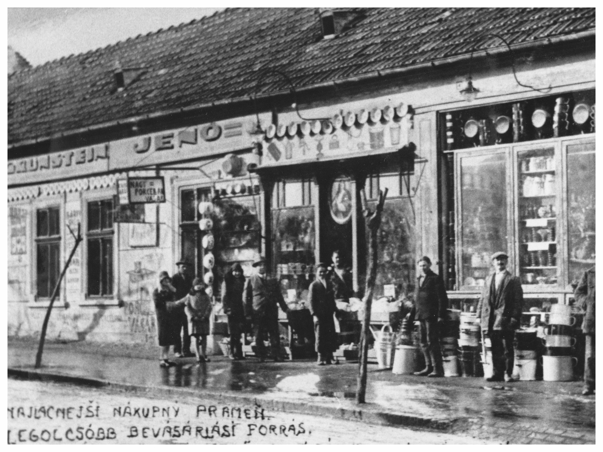 Grunstein housewares store, Nove Zamky, Slovakia 1930's