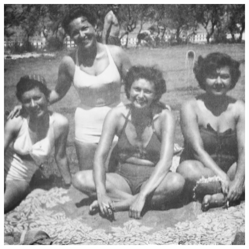 Eva with girlfriends. Israel c. 1950