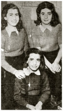 Ruth, Eva and Rosel - January 13, 1948 (photo from Toronto Star newspaper)