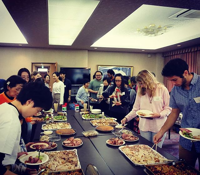 Japan Study students and host families gathered together for our annual Thanksgiving dinner this weekend. Thanks to everyone for a great event!  #japanstudy1963 #japanstudy #studyinjapan #studyintokyo #tokyostudyabroad #japanstudyabroad #studyabroad #留学 #留学生 #留学生活 #日本留学 #東京留学 #感謝祭 #アメリカ感謝祭 #サンクスギビング #サンクスギビングパーティー #文化交流