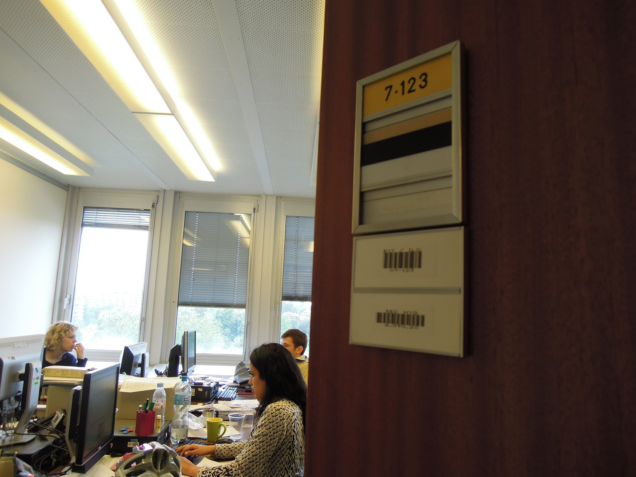Not very stylish, but almost like home. The office I shared with other fellow interns at the ILO in spring 2013.