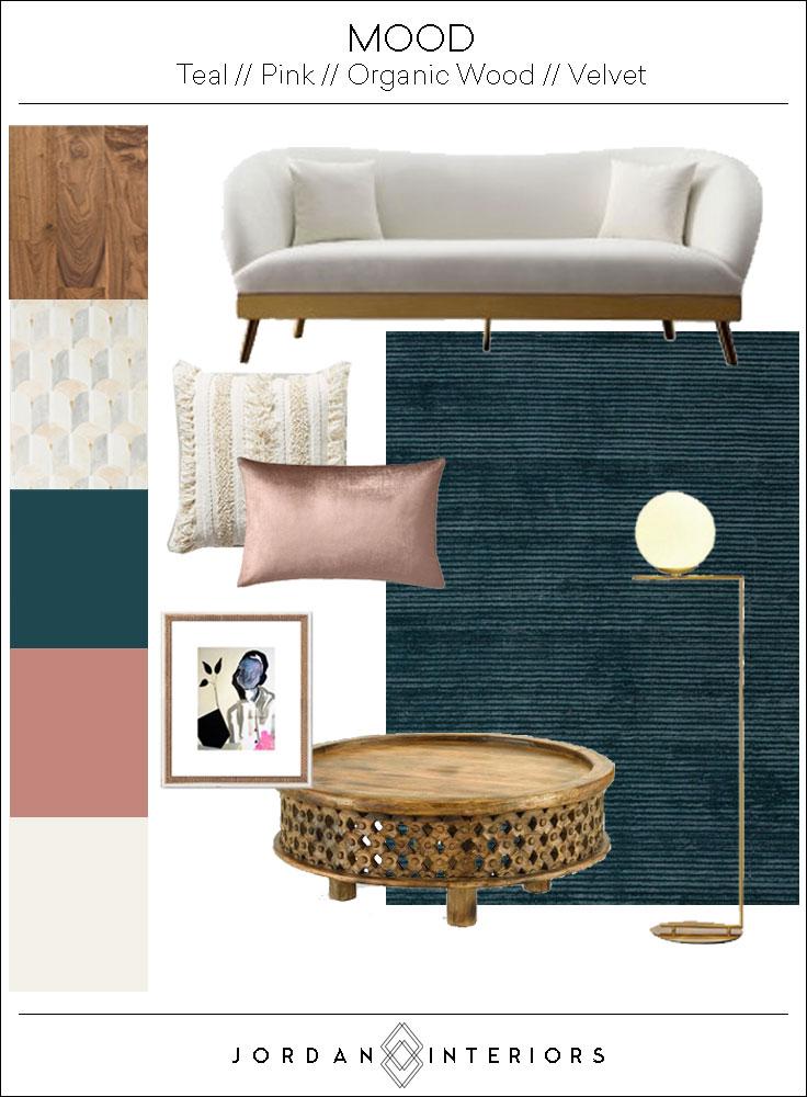 Boho Glam Moodboard // Jordan Interiors //  Modern Eclectic Interiors