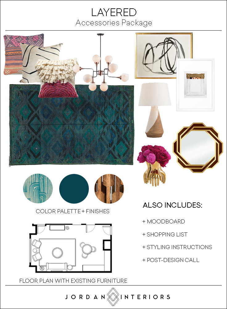 Jordan Interiors // Modern Eclectic Virtual Interior Design