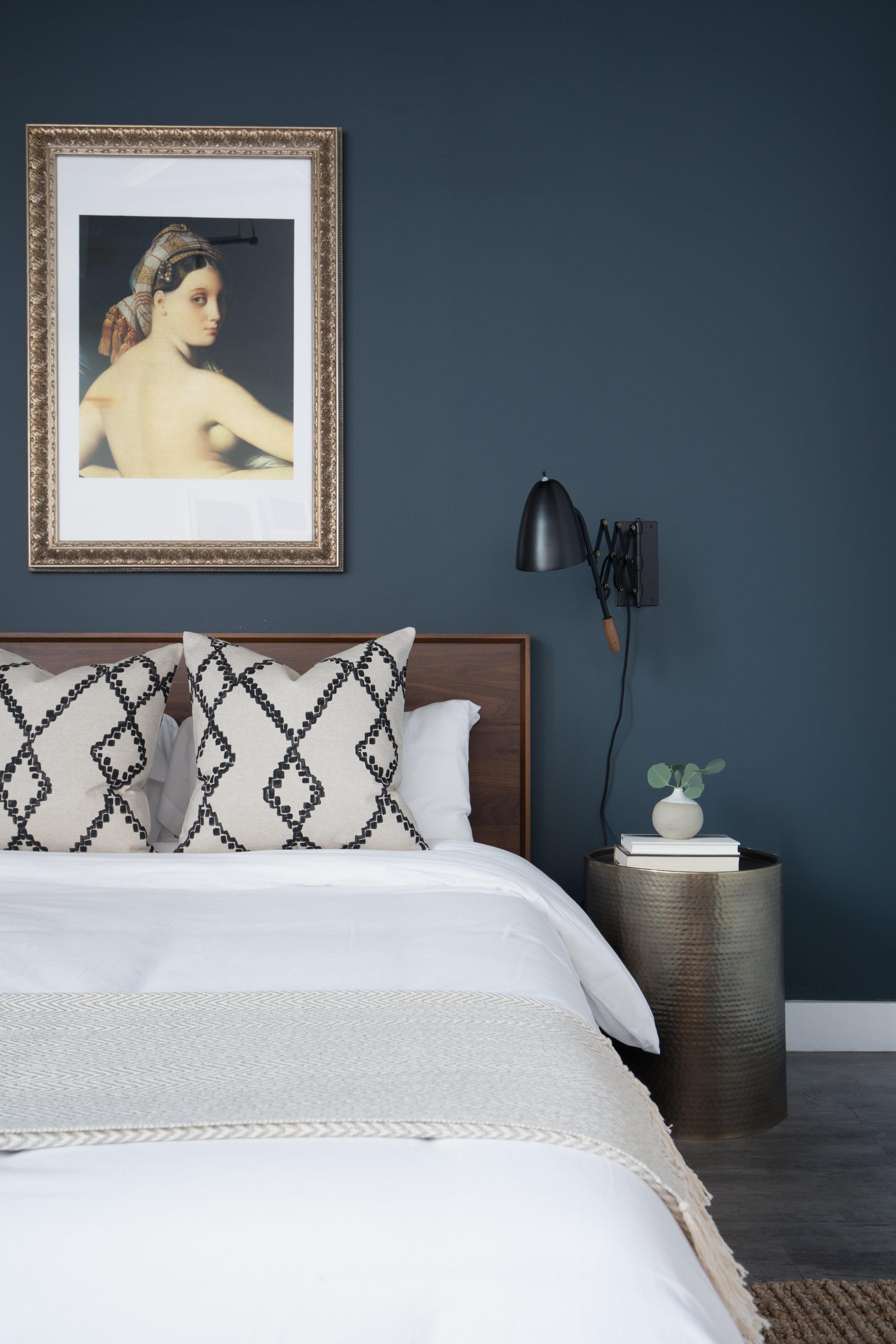 Jordan Interiors // Vintage Eclectic Bedroom Design