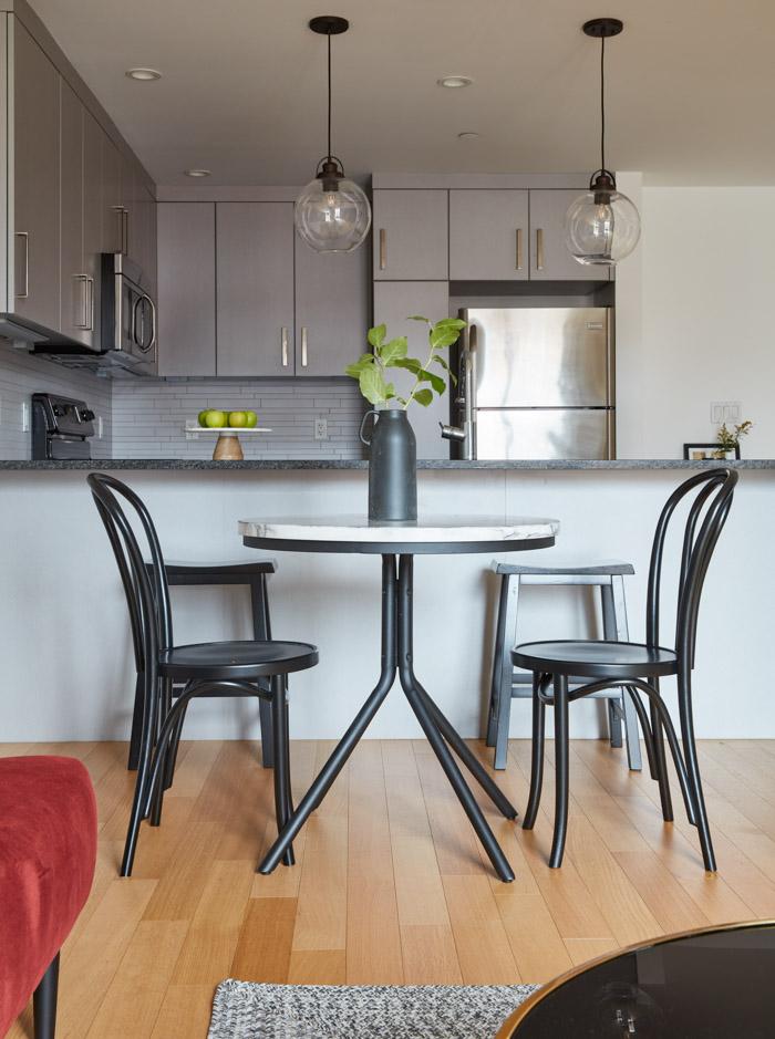 Jordan Interiors // Boston Mission Hill Eclectic Living Room Design