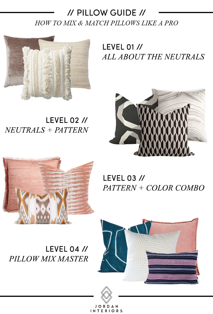 How to Mix & Match Pillows // Jordan Interiors