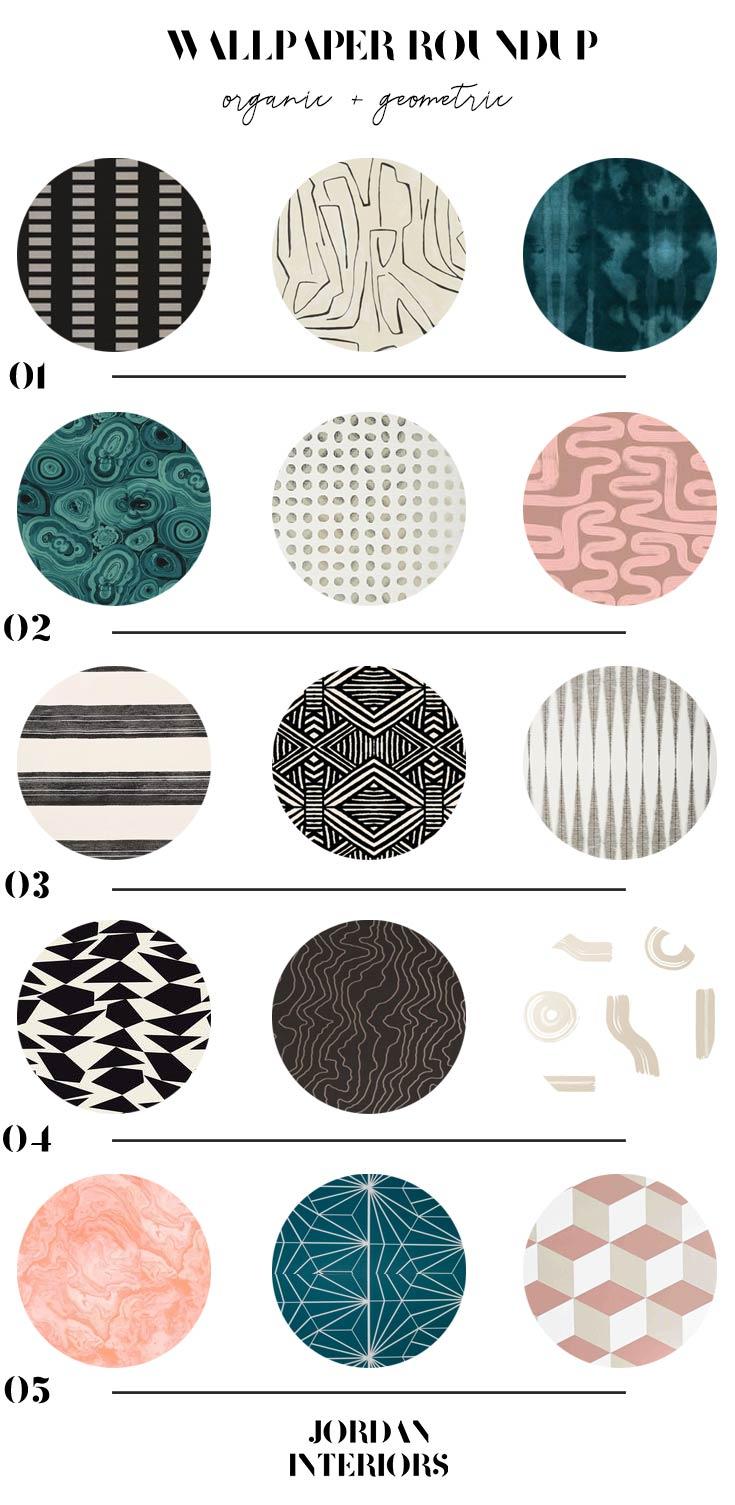 Modern Eclectic Patterned Wallpaper // Jordan Interiors // Online Interior Design