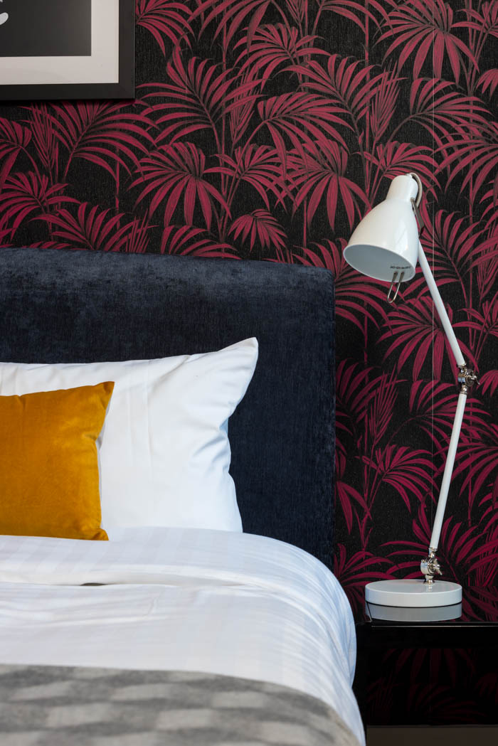 Funky Modern London Bedroom // Jordan Interiors // Modern Eclectic Design