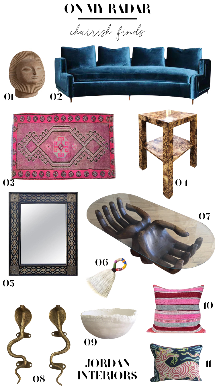 Eclectic home decor finds from Chairish // Jordan Interiors // Modern eclectic design