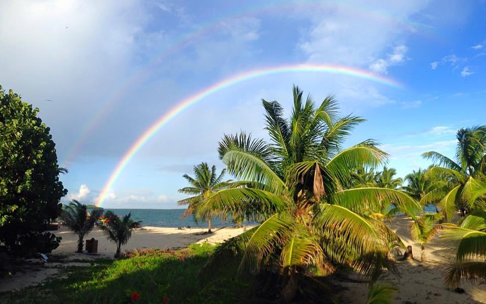 Placencia Belize double rainbow. Nov. 19, 2015. photo by Jolie Polard