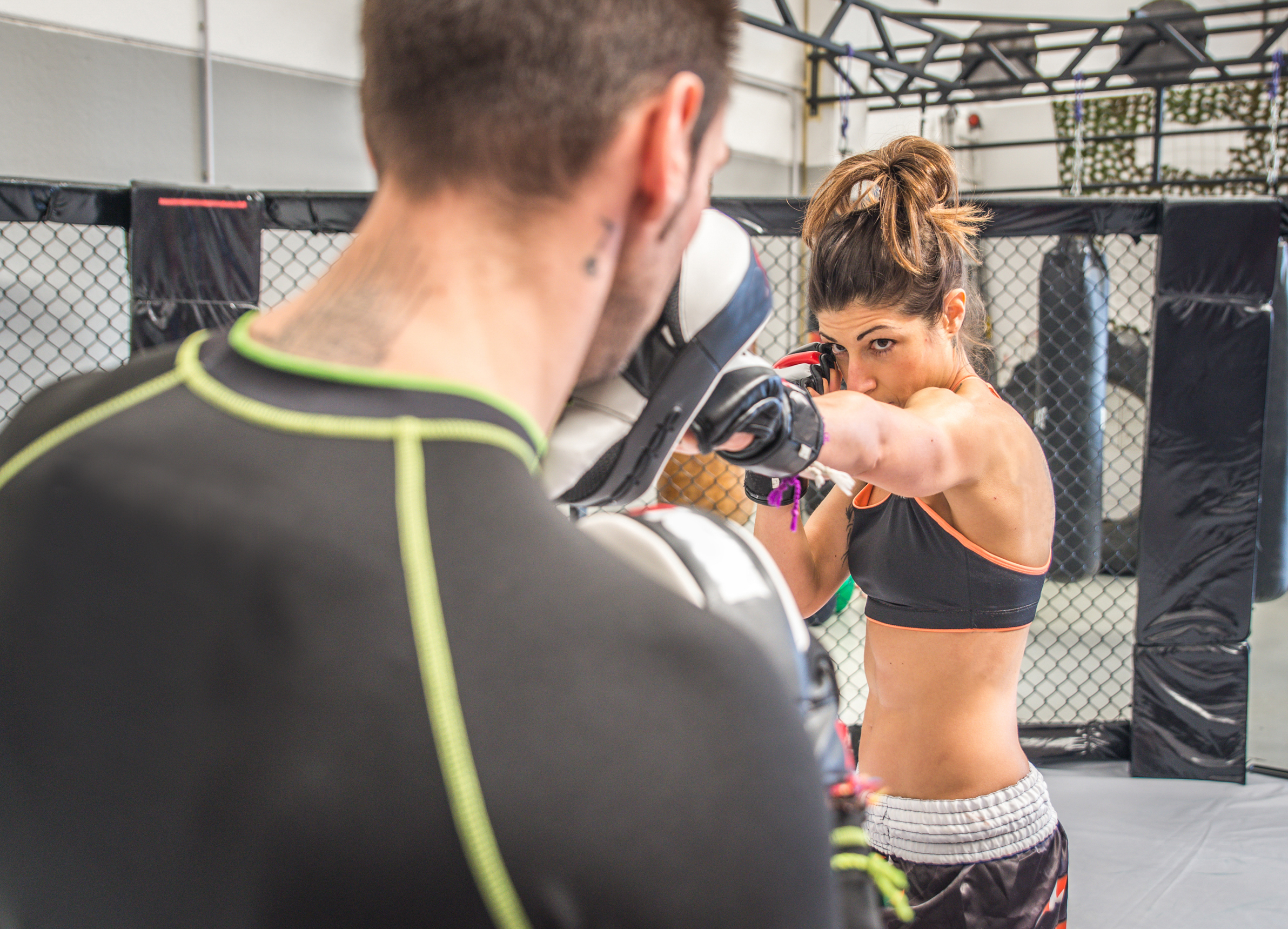 Kickboxing - Our kickboxing classes are fantastic for both women and men. We are part of the WCKA (Welsh Contact Kickboxing association) and offer pad work, semi and full contact kickboxing to suit all needs and abilities. Kickboxing is a fantastic opportunity to get fit and learn an effective striking art and sport in a fun environment and our female and male black belt instructors Richard Lewis and Mandy Lewis support and cater for all abilities and experience.