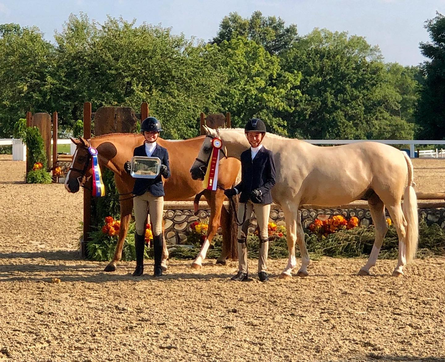 It's so fun to share special moments with your friends! Congrats Sterling and Kat on the Large Pony tricolors. It's been a great week!
