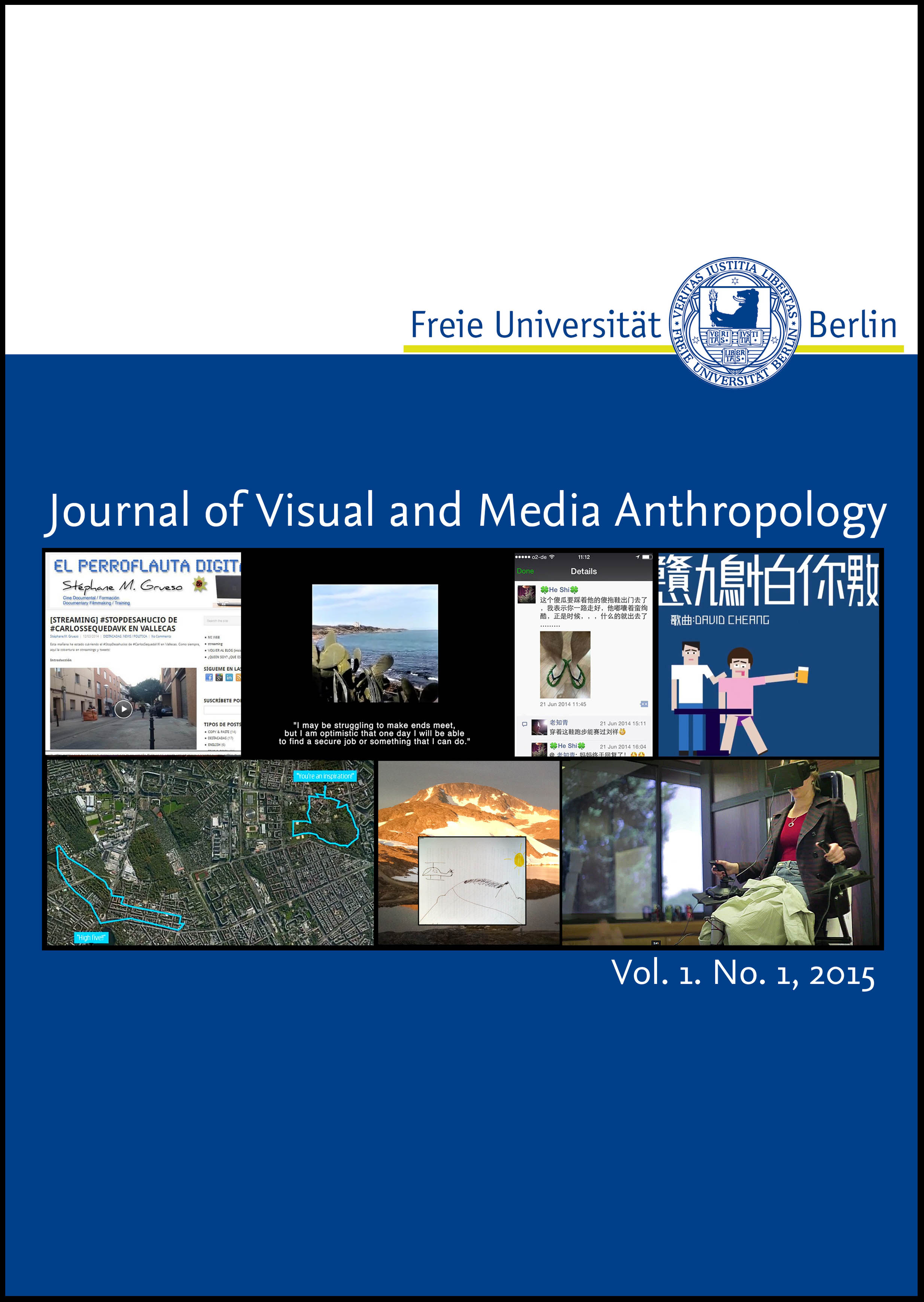 JOURNAL OF VISUAL AND MEDIA ANTHROPOLOGY - The Journal of Visual and Media Anthropology is a a peer-reviewed open-access journal dedicated to research on digital environments and cultures, the impact of new media on expressions of self and social formations, the theory and practice of ethnographic filmmaking and the study of online- and offline visual worlds. The journal is a venture of Freie Universität Berlin's Research Area Visual and Media Anthropology. It will present written works, machinima and short films that self-consciously experiment with innovative modes of representation, new forms of integrating written and multi-media ethnography and therefore seeks to challenge the conventions of academic publishing.EDITORS: PROF. DR. URTE UNDINE FRÖMMING, STEFFEN, KÖHN, MIKE TERRY.HERE