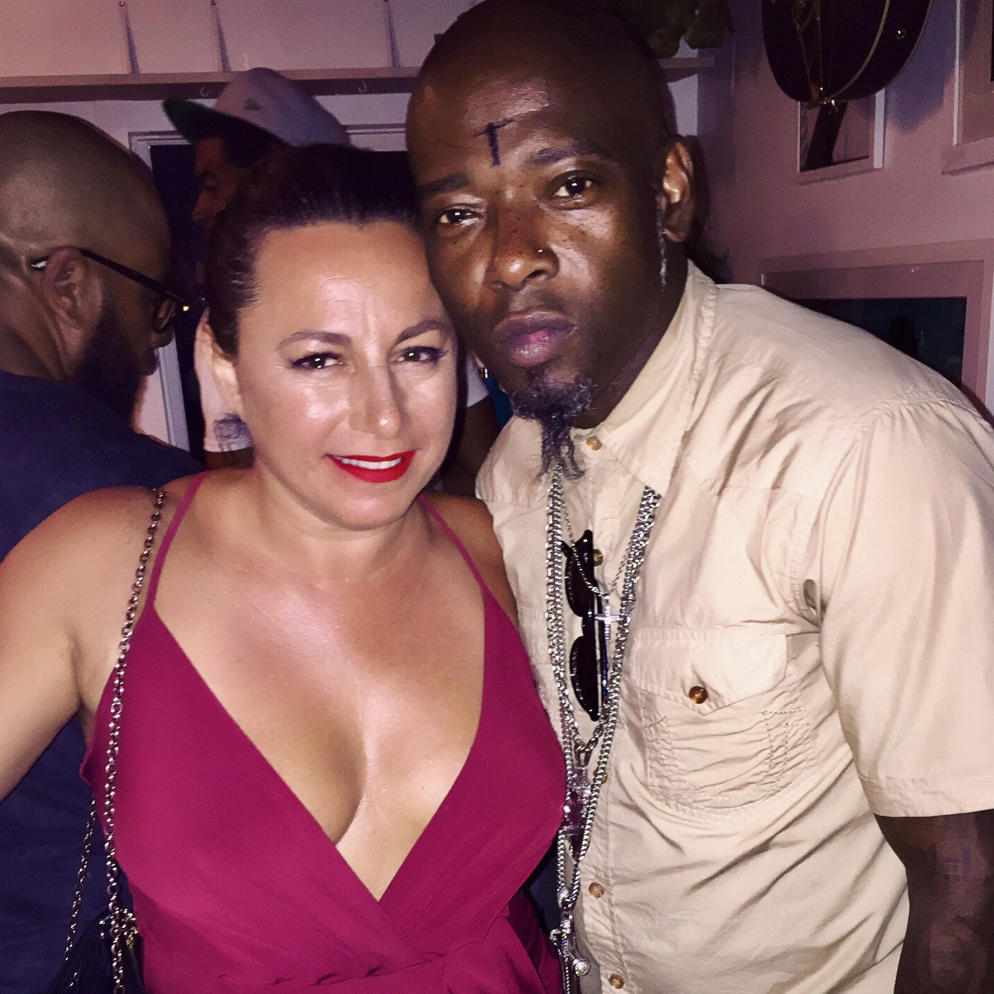 Naughty by Nature's  Treach  and  Selma Fonseca