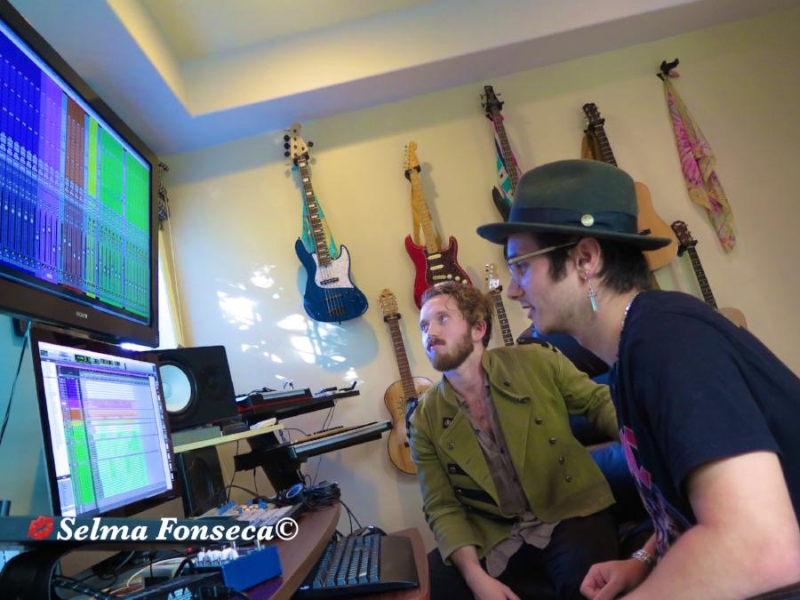 Daniel Davila and Cooper Bell at their studio