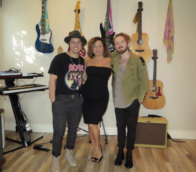 Daniel Davila, Selma Fonseca and Cooper Bell at their studio