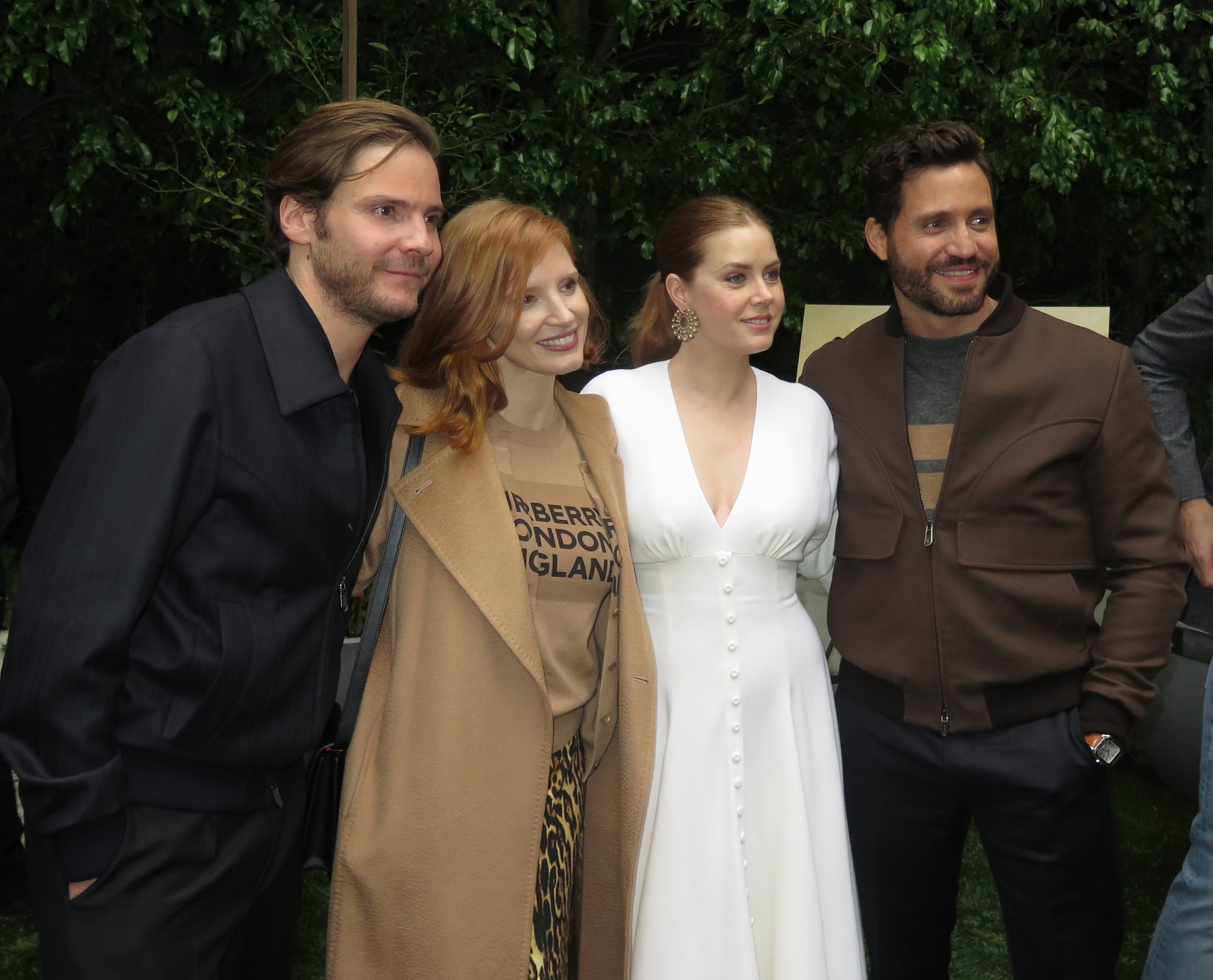 Daniel Bruhl, Jessica Chastain, Amy Adams  and  Edgar Ramirez