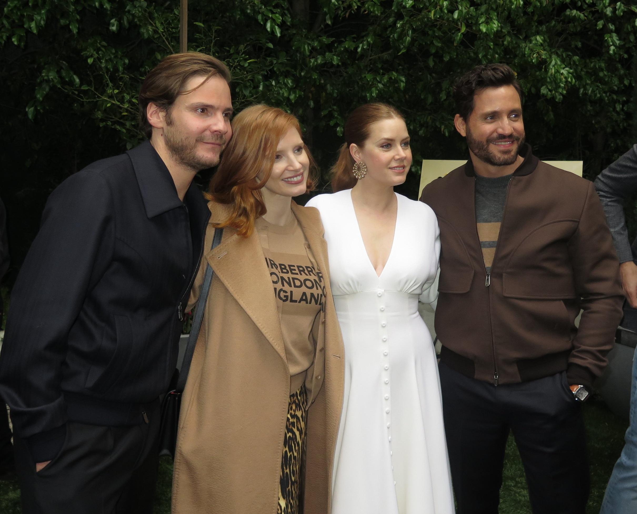 Daniel Bruhl, Jessica Chastain, Amy Adams  and  Edgar Ramirez