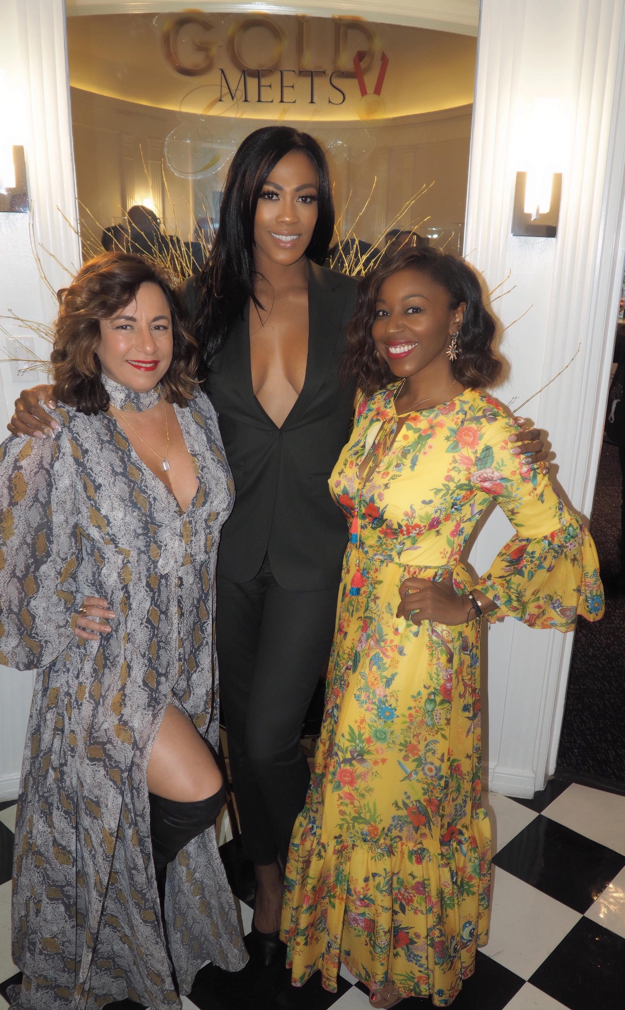 Selma Fonseca with Kim Glass and Kinya Claiborne