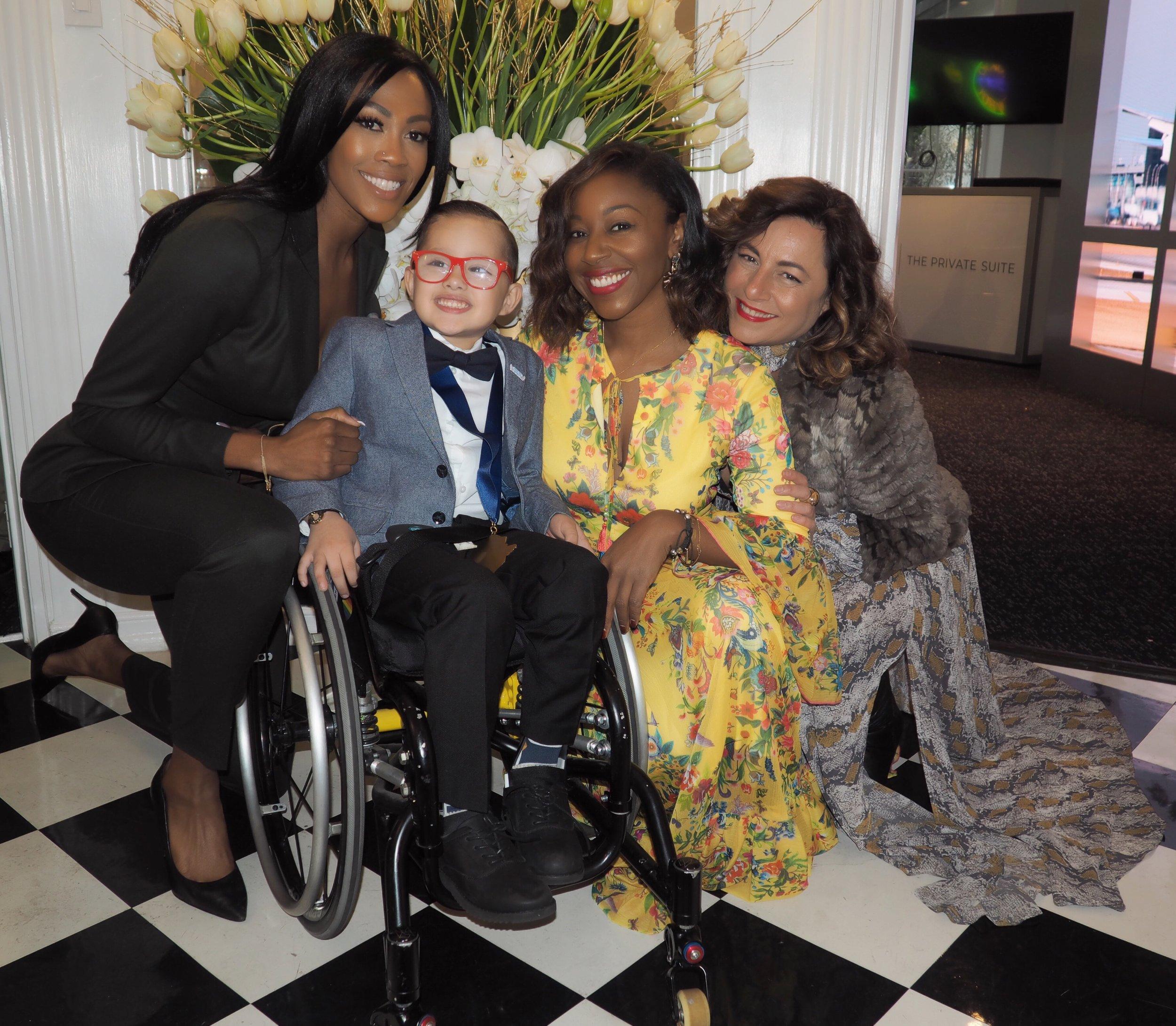 Selma Fonseca with Asher Loera, Kim Glass and Kinya Claiborne