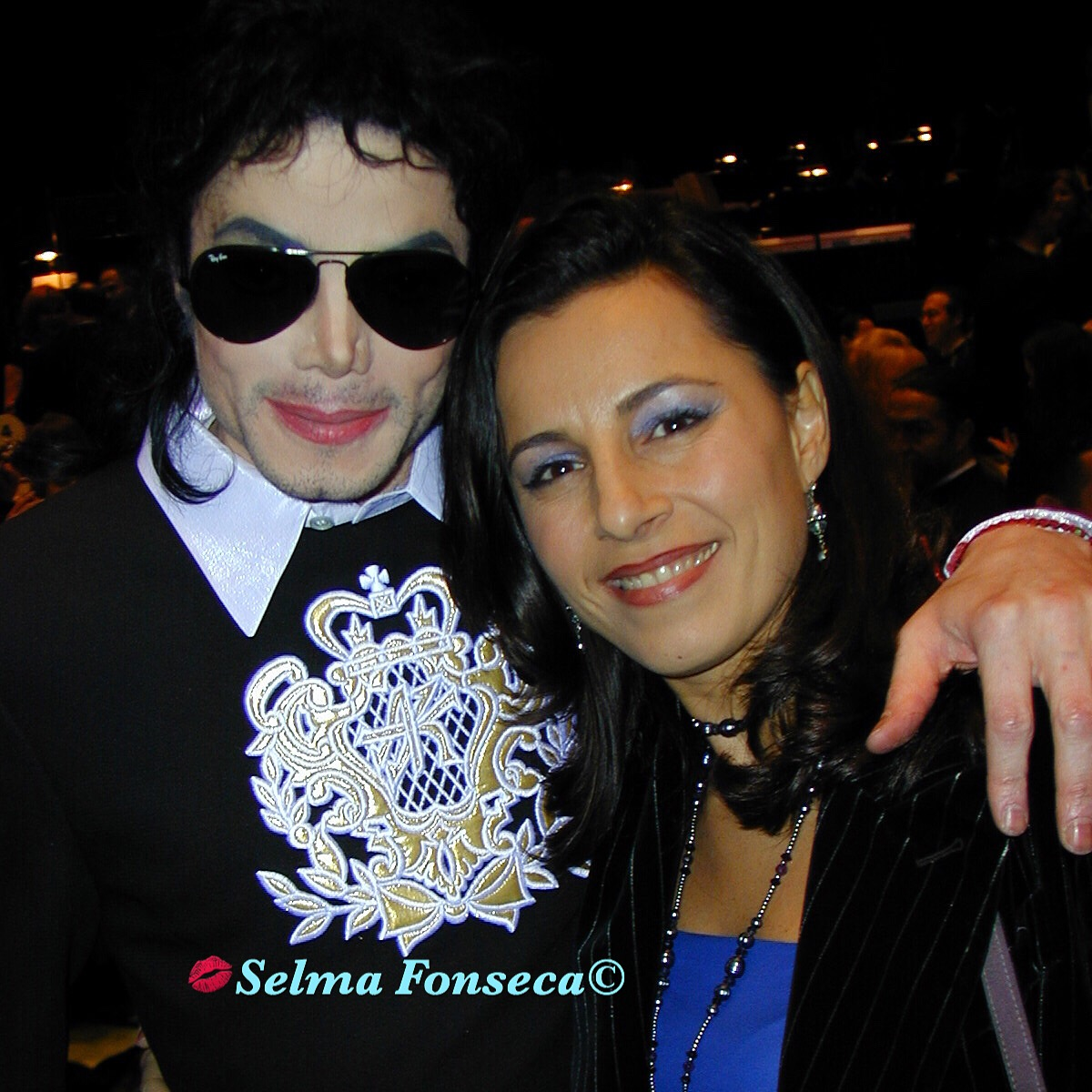 Michael Jackson and Selma Fonseca