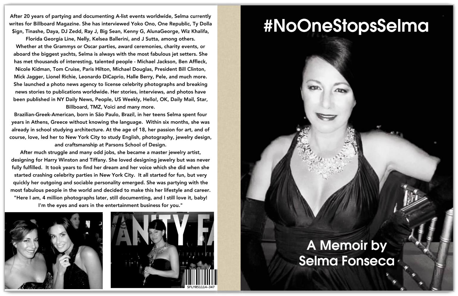 """""""#NoOneStopsSelma A Memoir by Selma Fonseca  Cover page"""