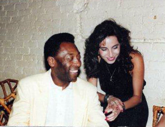 Pele and Selma Fonseca at his birthday party in New York City