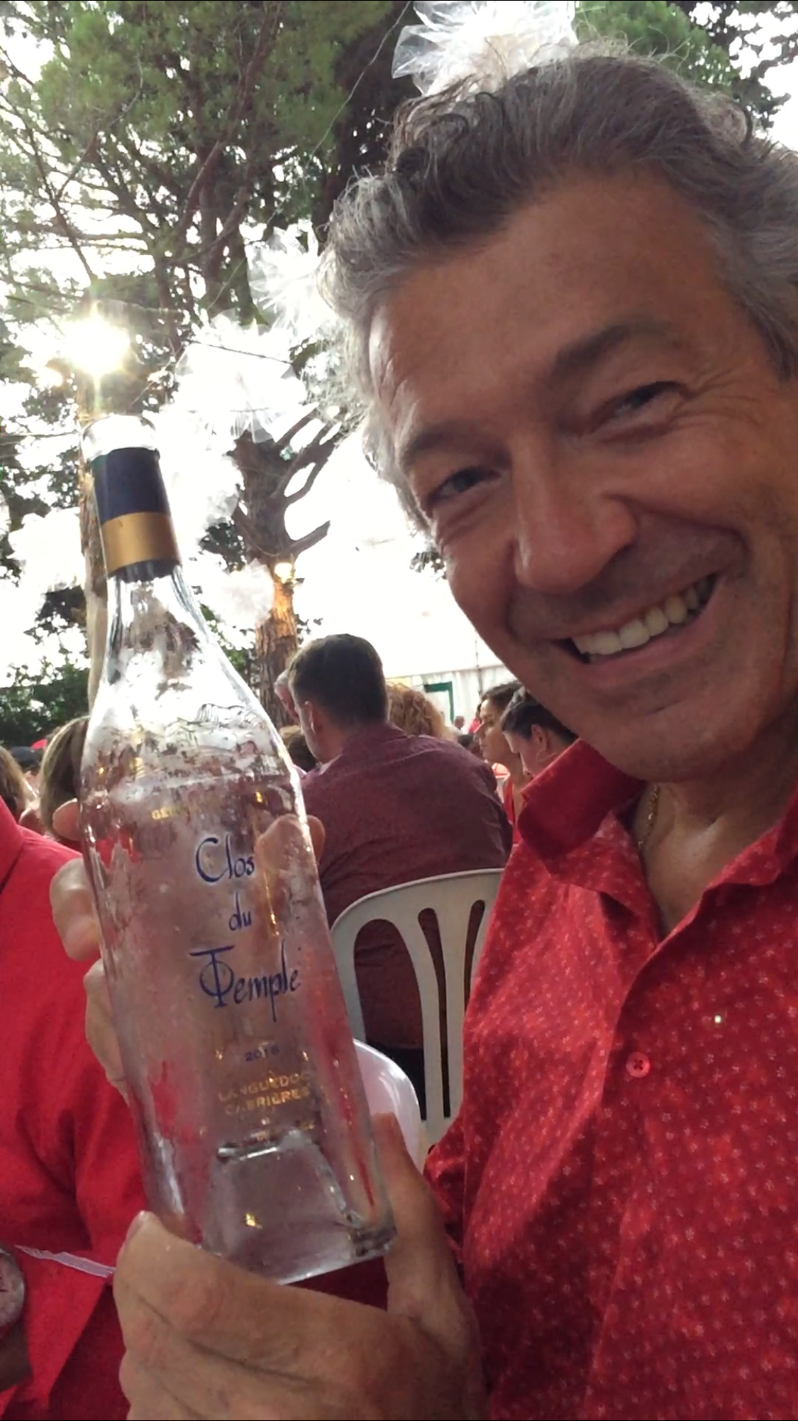 "Gerard Bertrand Showing me his finest and most expensive Rose wine ""Clos du Temple"". Photo by Selma Fonseca"