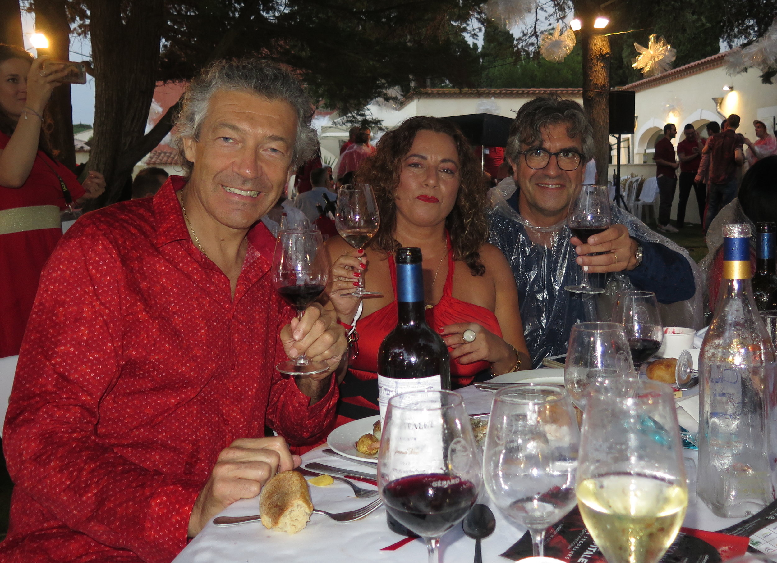 Gerard Bertrand, Selma Fonseca and Thierry de Bailleul. Photo by Selma Fonseca