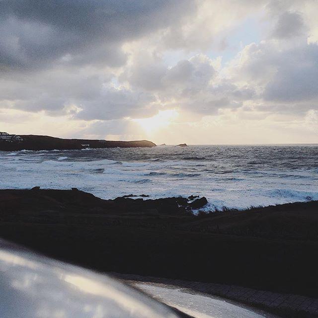 Life by the sea #ocean #sea #waves #surf #beach #autumn #newquay #cornwall #sundown