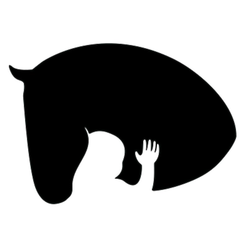 horse/human silhouette