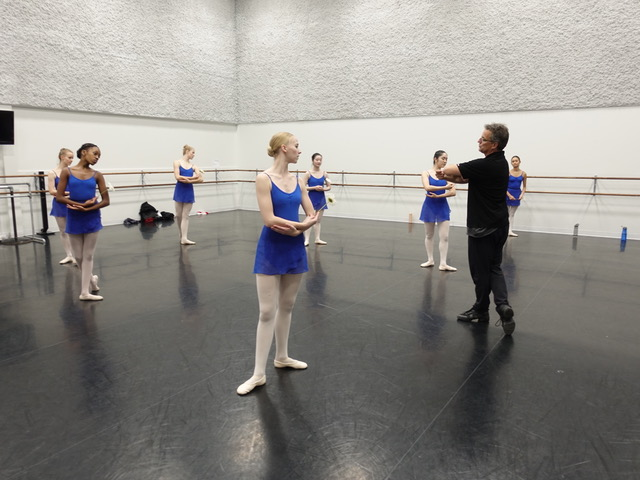 Jean Grand-Maître works with Alberta Ballet dancers and students for the Calgary Opera's production of Gounod's classic romance Roméo & Juliette