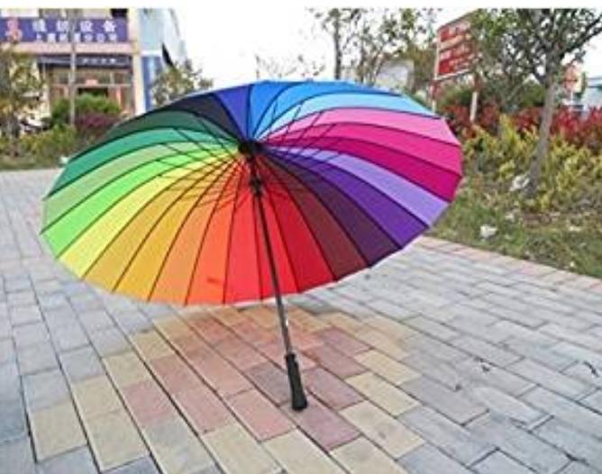 Pretty Rainbow Sun Umbrella. $38.00