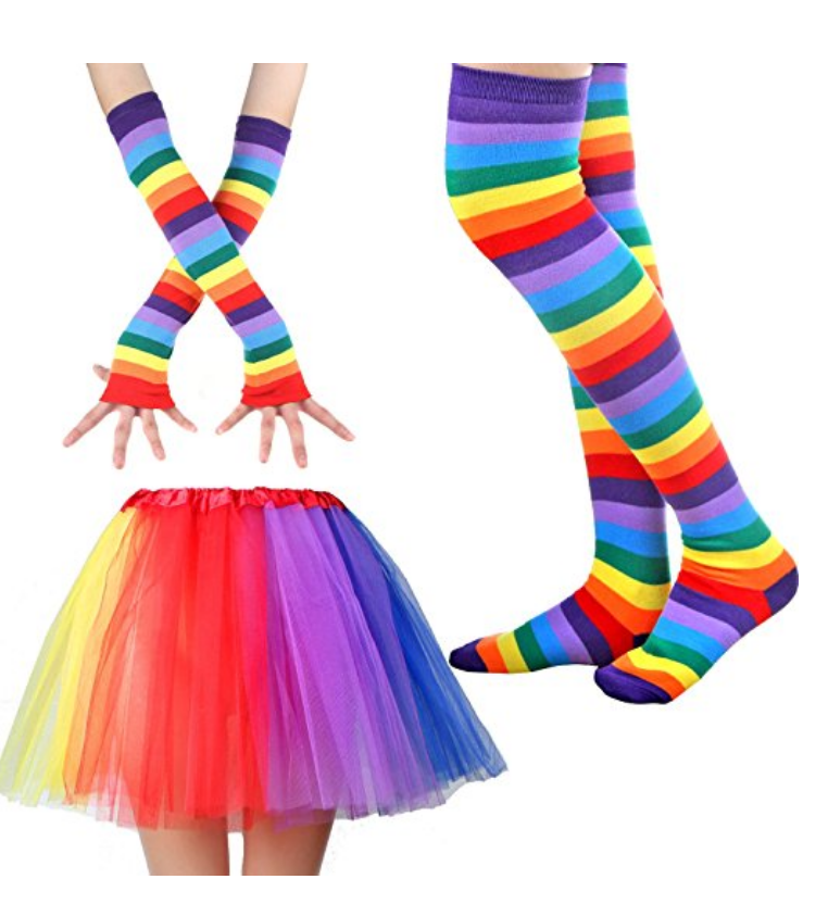 Long Gloves, Socks and Tutu. $22.99
