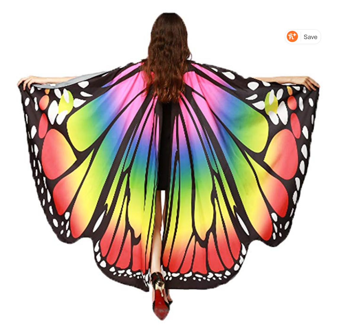 Rainbow Butterfly Wings $10