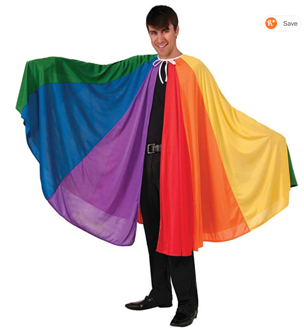 Bigger Rainbow Cape. $44