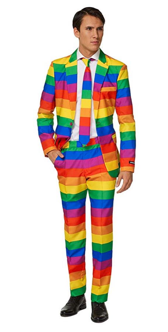 Rainbow Suite & Tie $85