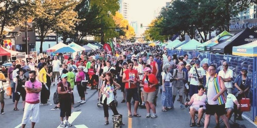 Enjoy New West Pride's Street Festival Aug 17 3:00 - 8:00 pm. Live entertainment, marketplace, and street food.  Photo: Ted Mason, Eventbrite