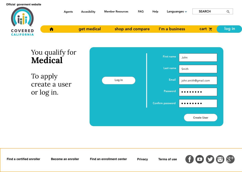 Medical log in