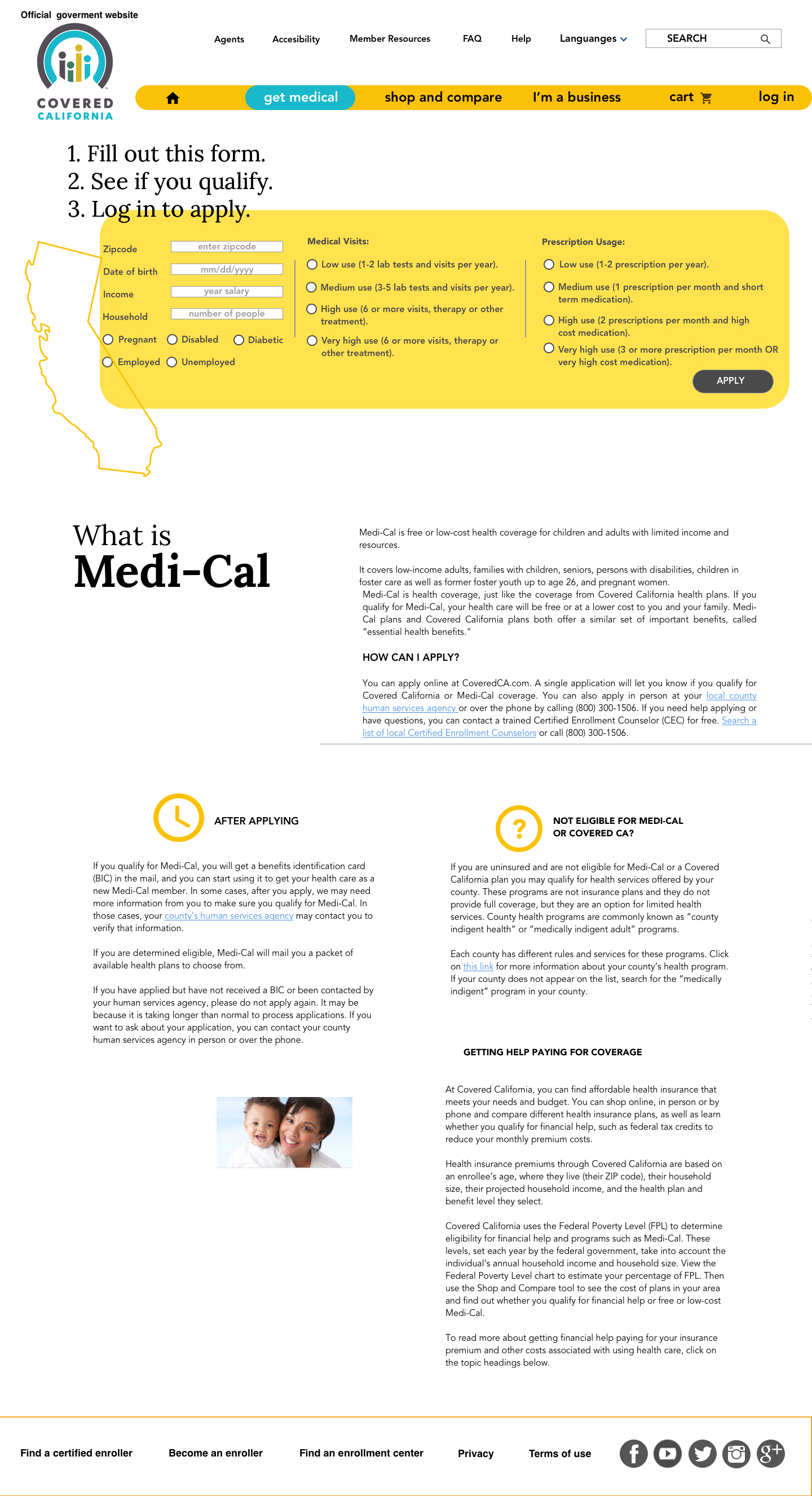Medical info page