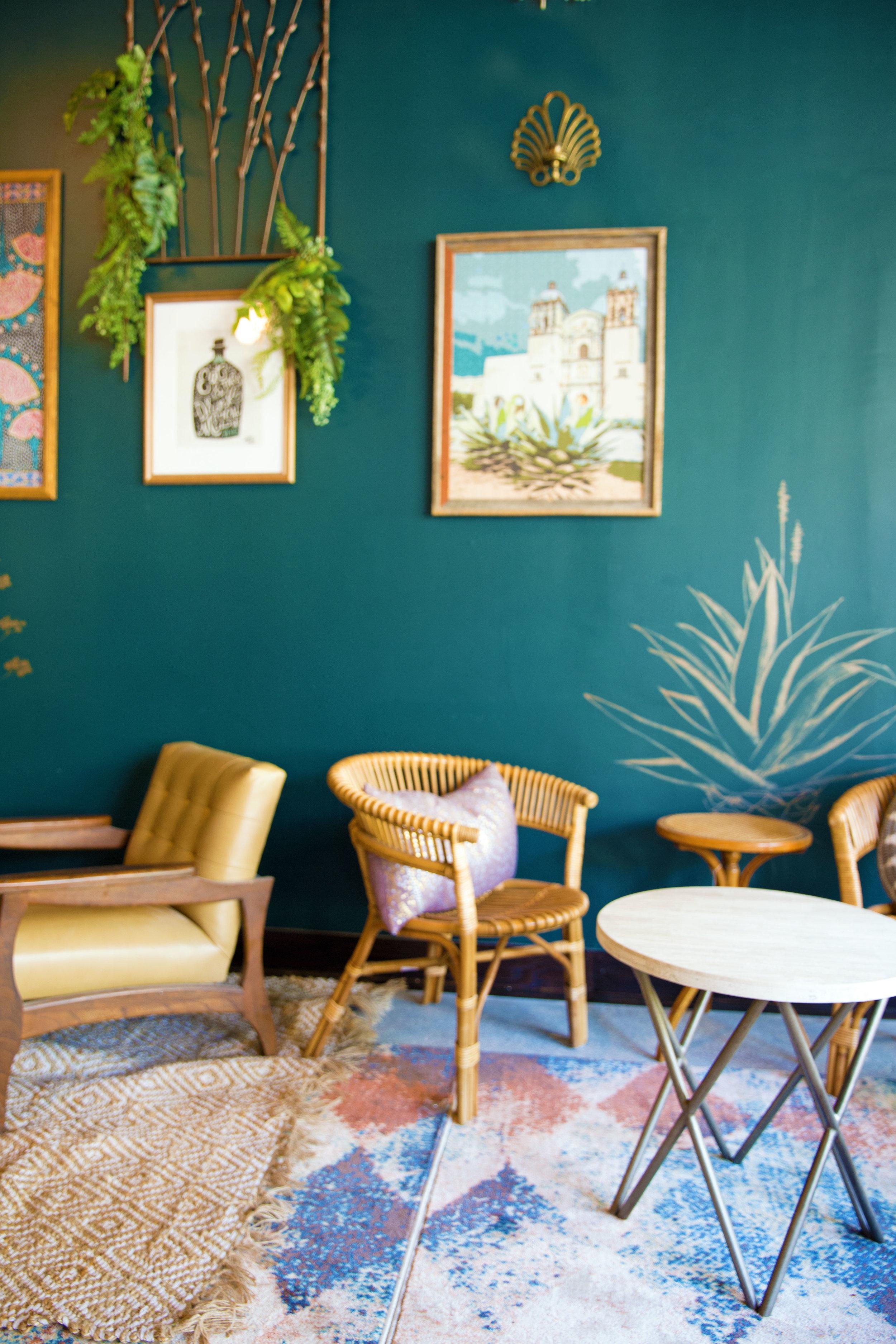 Reyes Mezcaleria Interior Sitting Room