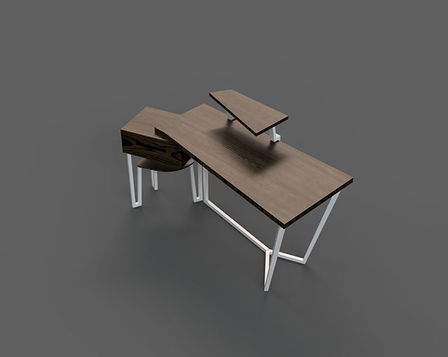 1st iteration of table inspired by calligaris
