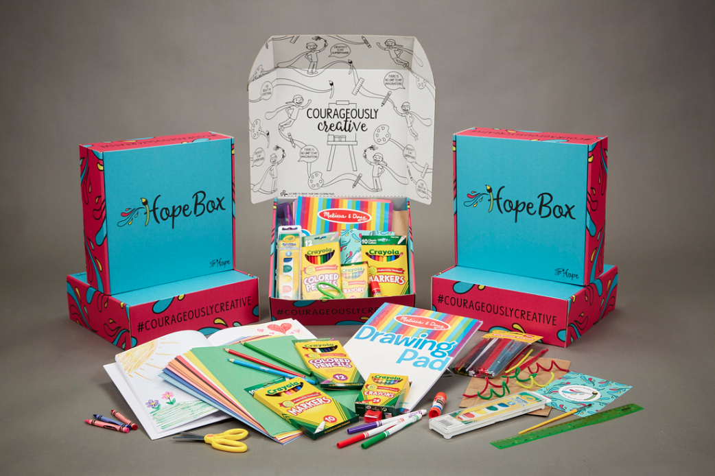 Kids are encouraged to remove the top of the box, which doubles as a coloring page!
